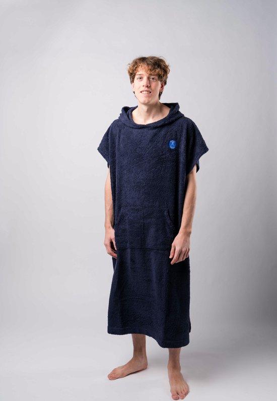Ponchy - Surf Poncho - Handdoek Poncho - Azul Oscuro - Maat Groot - Uniseks - Katoen