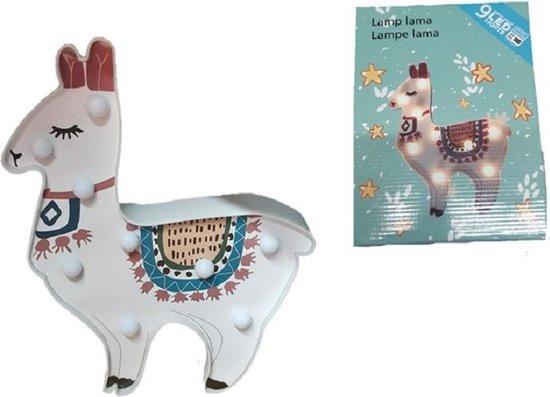 Lama alpaca lamp - Led - 9 spotjes - Leuk voor de slaapkamer