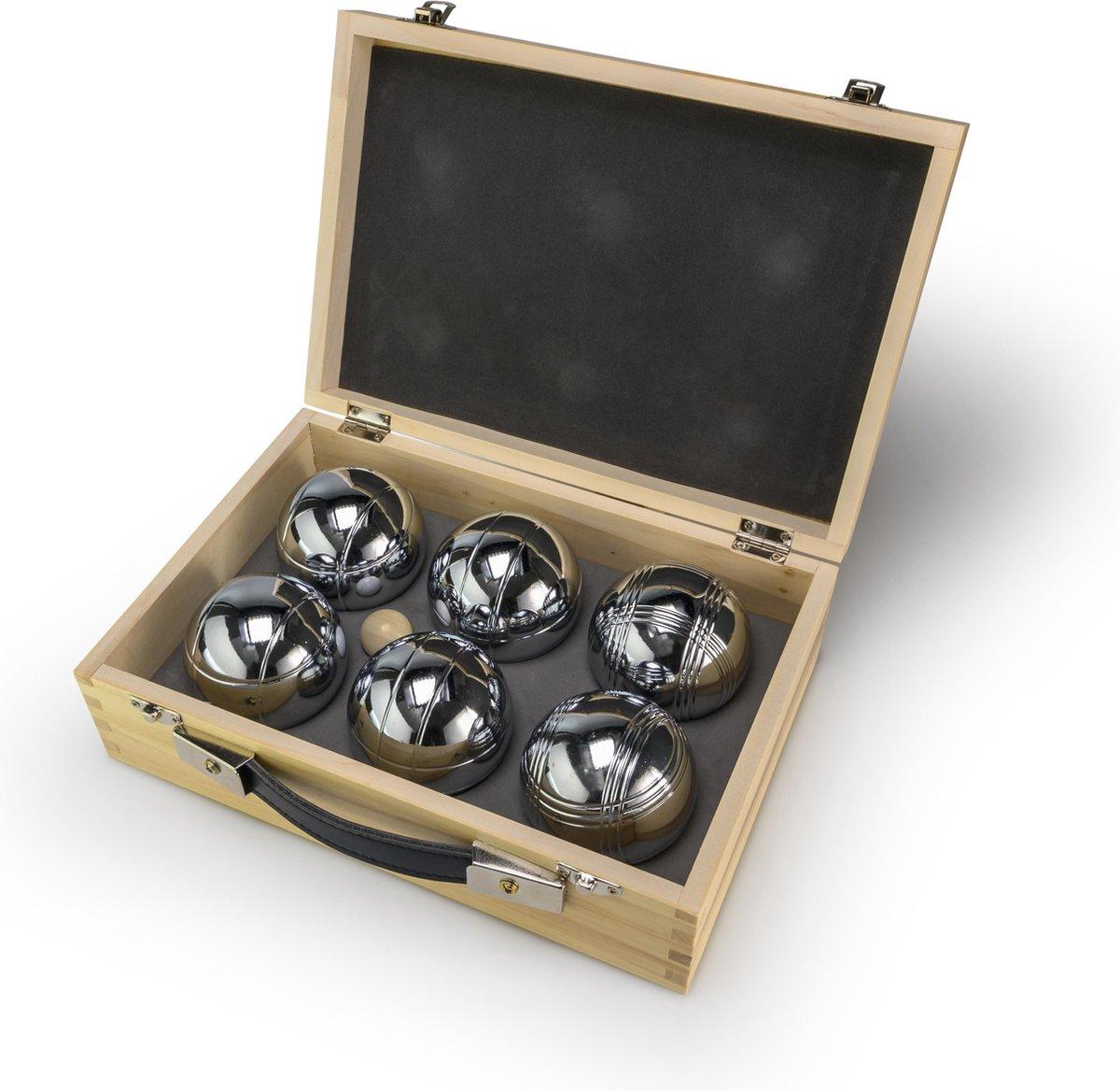 Jeu de Boules (Pétanque) in een houten doos