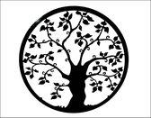 Dit Pracht - muurdecoratie - levensboom - antraciet/zwart - doorsnee 50cm