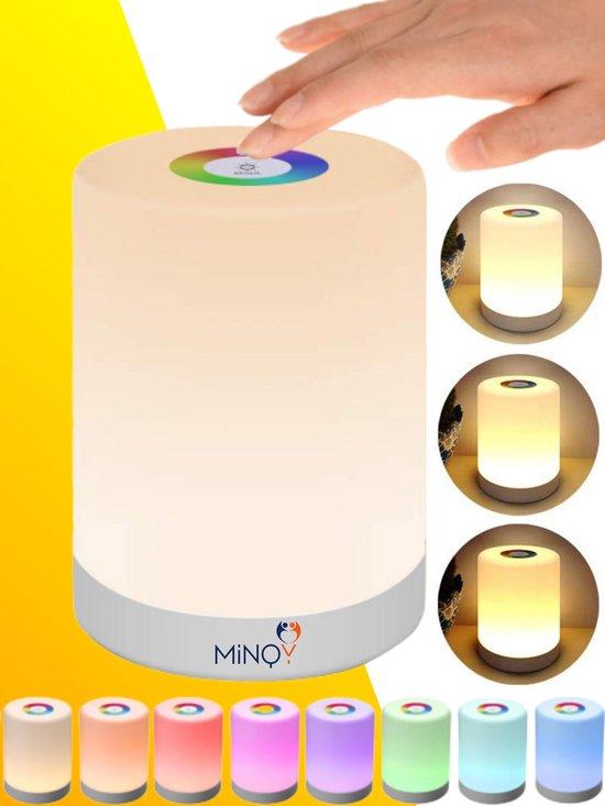 Nachtlampje Kinderen Tafellamp Nachtlampje Kinderkamer LED Verlichting - Oplaadbaar - Dimbaar - Draadloos - Touch control - Smartlamp - Gratis E book - MINQY®