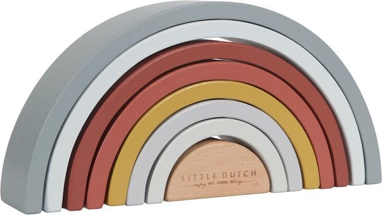Little Dutch Pure & Nature Houten Stapelaar Regenboog