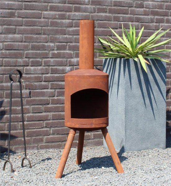 2L Home and Garden Tuinhaard Potkachel small roest - industrieel look - kleur: roestbruin