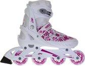 Roces Compy 8.0  Inlineskates - Maat 30-33 - Meisjes - wit/roze