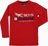 BOYS iN ControL Jongensshirt - Rood - Maat 92