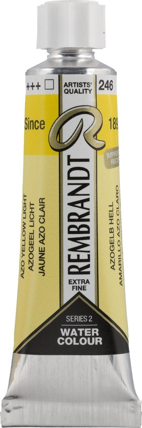 Rembrandt Water Colour Tube 10ml | Azo Yellow Light (246)