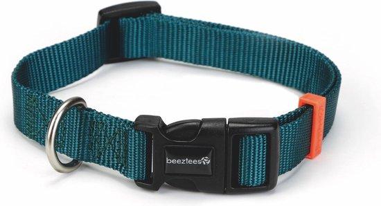 Beeztees nylon halsband uni groen 35-50x20mm