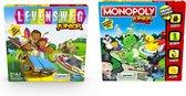 Kinderspelvoordeelset Levensweg Junior - Bordspel & Monopoly Junior - Bordspel