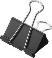 Papierklem Westcott 50mm metaal zwart 12stuks in doos