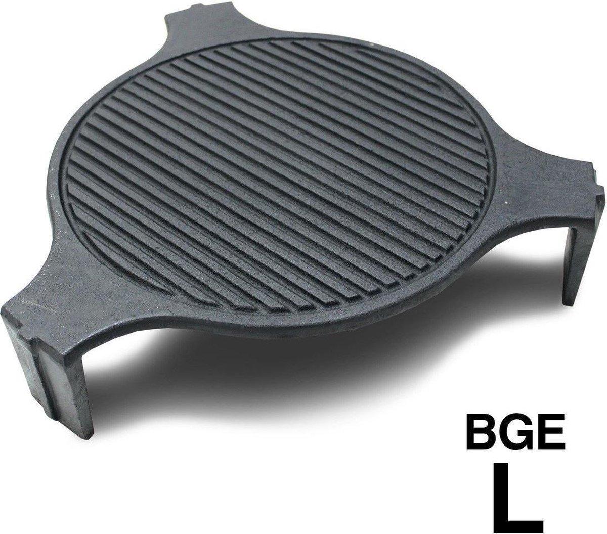 Smokeware Gietijzeren Grillrooster Large - Barbecuerooster - Gietijzeren bakplaat- Grillrooster - Bakplaat - Grill-Bakplaat- Ø 46cm - Geschikt voor Bigg Green Egg Large