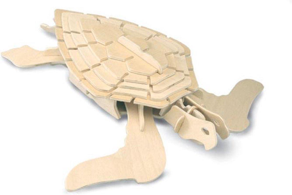 Bouwpakket 3D Puzzel Schildpad - hout