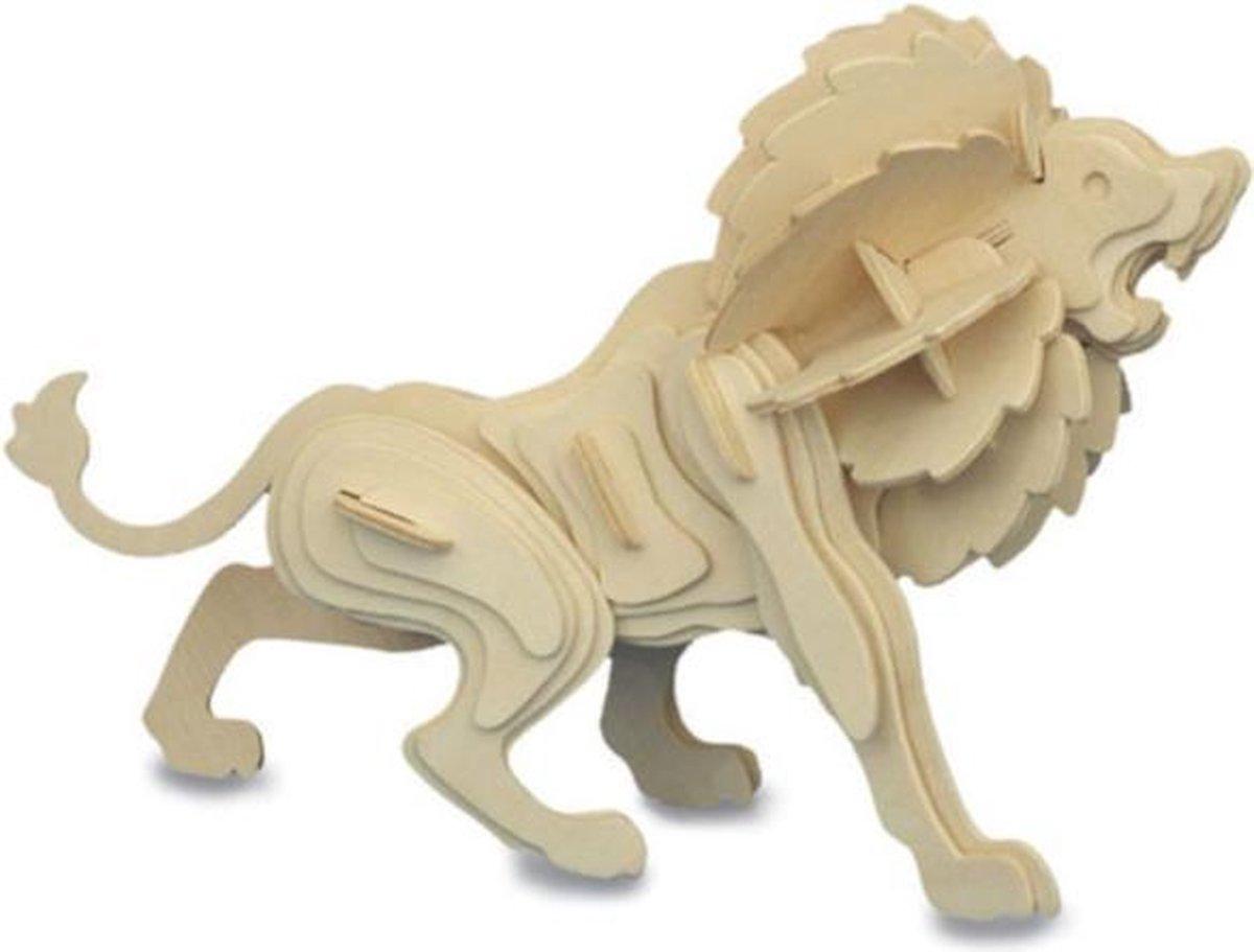 Bouwpakket 3D Puzzel Leeuw - hout