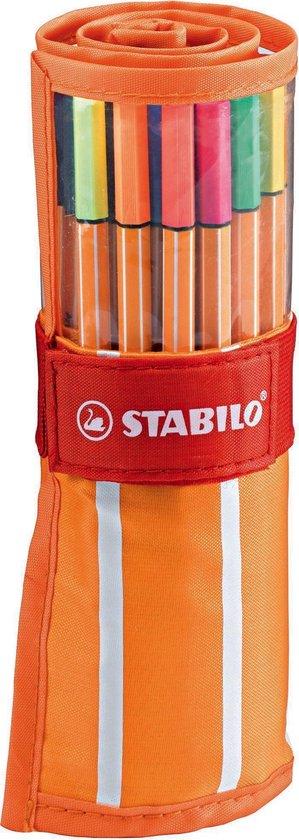 STABILO Point 88 Fineliner Rollerset - Etui - 30 stuks
