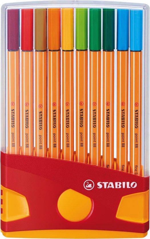 STABILO point 88 - Fineliner 0,4 mm - ColorParade - Set Met 20 Verschillende Kleuren