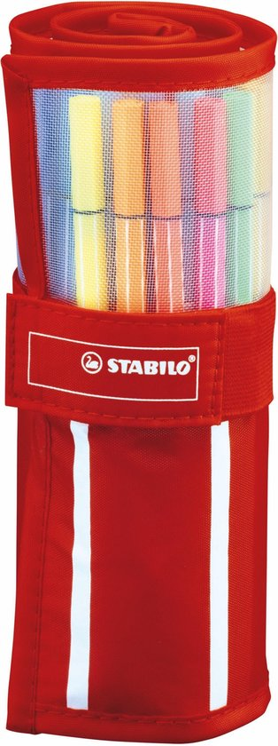 STABILO Pen 68 Viltstiften Rollerset Met 30 stuks