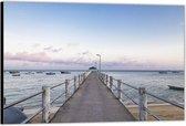 Dibond –Vlonder aan de Zee– 90x60 Foto op Aluminium (Wanddecoratie van metaal)