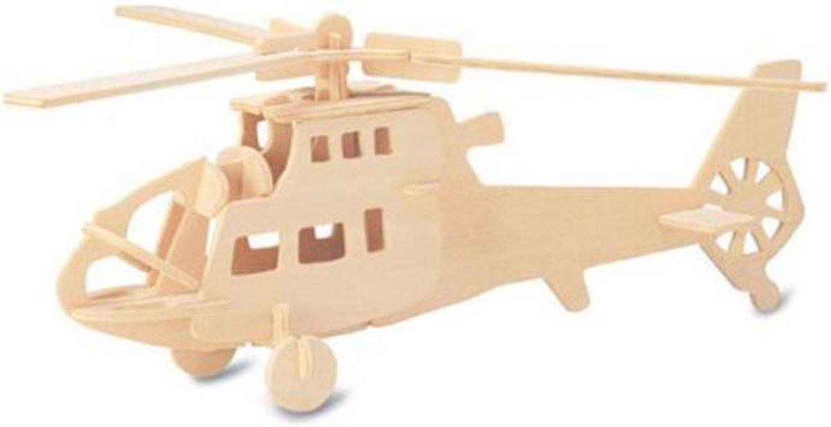 Bouwpakket 3D Puzzel Helicopter - hout