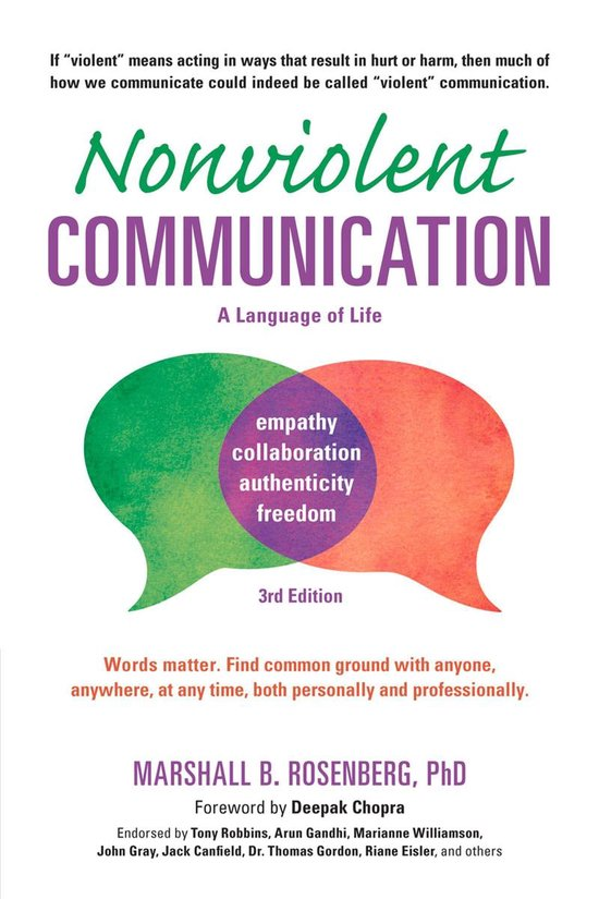 Boek cover Nonviolent Communication: A Language of Life van Marshall B. Rosenberg (Onbekend)