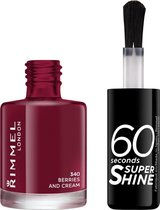 Rimmel London 60 seconds supershine nailpolish - Berries And Cream - Berry