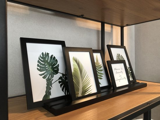 Bol Com 5 Delige Fotolijst Fotolijst Met Plank Foto Decoratie Woonaccessoire Fotolijst
