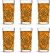 Libbey Longdrinkglas Hobstar - 47 cl / 470 ml - 6 stuks - vintage design - vaatwasserbestendig - hoge kwaliteit