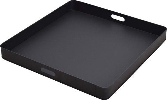 LOFT42 Tray Metalen Dienblad – Zwart – 60 x 60 cm