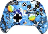 Xbox One Controller Skin | Controller hoesje + Thump grips | Blauw
