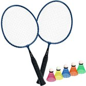 Badminton set Kids 2 Rackets Mini + 5 Shuttles