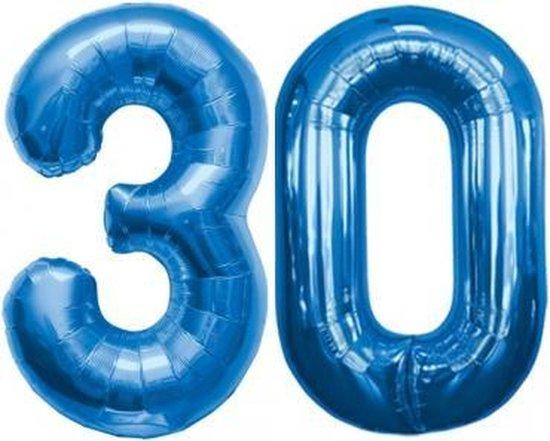Folie ballon blauw 30