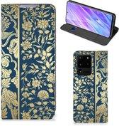 Samsung Galaxy S20 Ultra Smart Cover Golden Flowers