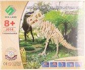 Bouwpakket dinosaurus Tyrannosaurus Rex hout - 3D T-Rex dino bouwspeelgoed