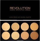 Makeup Revolution Ultra Cover & Concealer Palette - Light/Medium