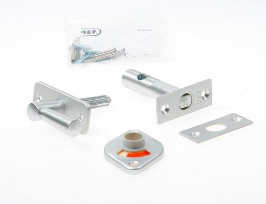 Nemef WC insteekgrendel  2705/4 - Doornmaat 50 mm - F1 geëloxeerd