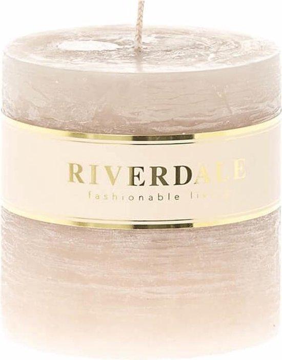 Riverdale Kaars Pillar beige 9x9cm
