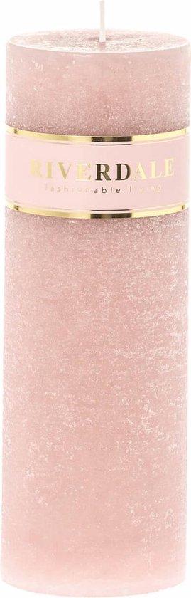 Riverdale Kaars Pillar roze 7x20cm