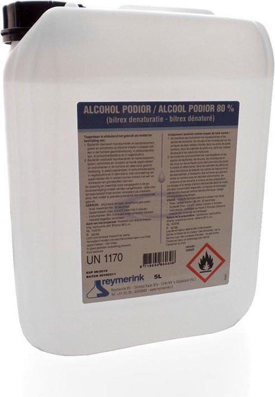Afbeelding van Desinfectie Alcohol 80% - 5 Liter Jerrycan - UN 1170