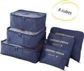 Packing Cubes, Koffer organizer, Koffer organiser, 6 stuks, Blauw