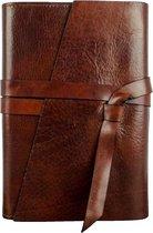Leren Journal Donker bruin - P.S. I LOVE YOU, Notitieboek, Reis dagboek, Notebook
