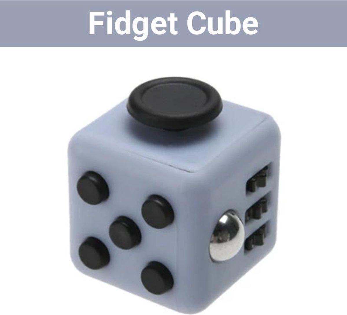 "Fidget Cube ""Grijs-Zwart"" - Fidget Toys - Anti Stress Speelgoed - Stressbal - Hoogsensitiviteit - HSP"