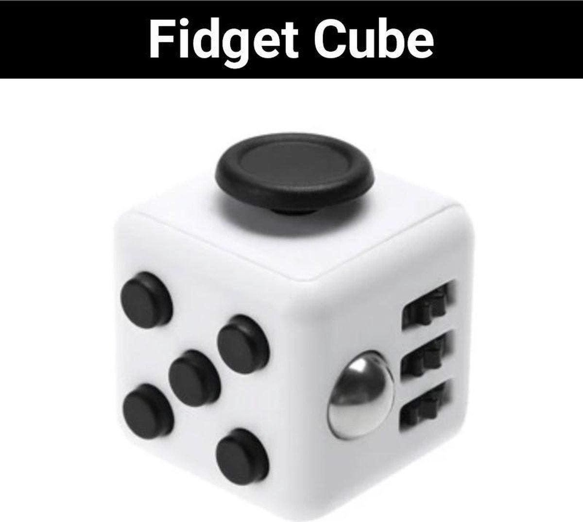 "Fidget Cube ""Wit-Zwart"" - Friemel Speelgoed - Anti Stress - Hooggevoeligheid - Hoogsensitiviteit Kinderen"