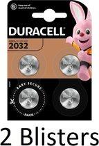 8 Stuks (2 Blisters a 4 st) Duracell 2032 Lithium-knoopcelbatterij