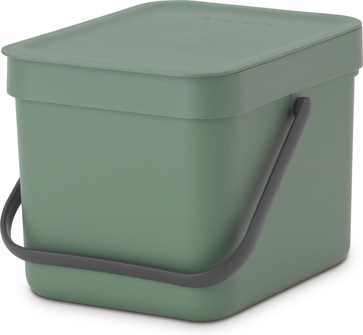 Brabantia Sort & Go Prullenbak - 6 l - Fir Green
