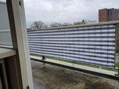 Balkondoek - 0.81 x 5 M - Wit/Blauw