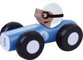 Jouéco Houten Raceauto 9 Cm Blauw