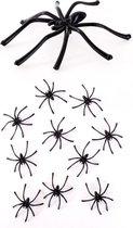 Zwarte spinnen 5cm fijn
