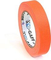 Pro Gaff neon gaffa tape 24mm x 22,8m oranje