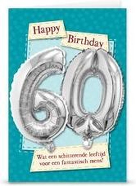 Miko - Kaart - Leeftijdballon - 60 Jaar