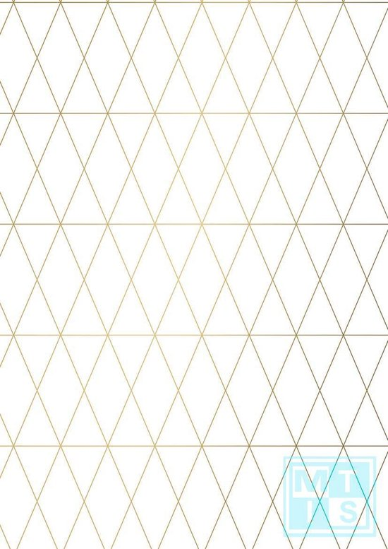 Geometrie Wit Cadeaupapier: Geometric White K801609/3 - Toonbankrol breedte 30 cm - m lang - Toonbankrol breedte 30  cm - K801609-3-30cm