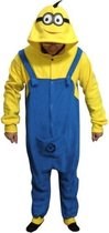 KIMU Onesie Minion pak kostuum Despicable Me - maat XL-XXL - Minionpak jumpsuit huispak