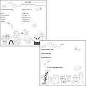 Luxe babyshower invulkaarten dieren- babyshower raadkaarten - babyshowerspelletje
